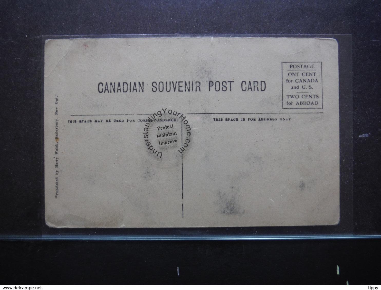 "#11301. ""Steamer Meteor"" Lake Temiscaming. Tape Residue Along Edges - Ontario"