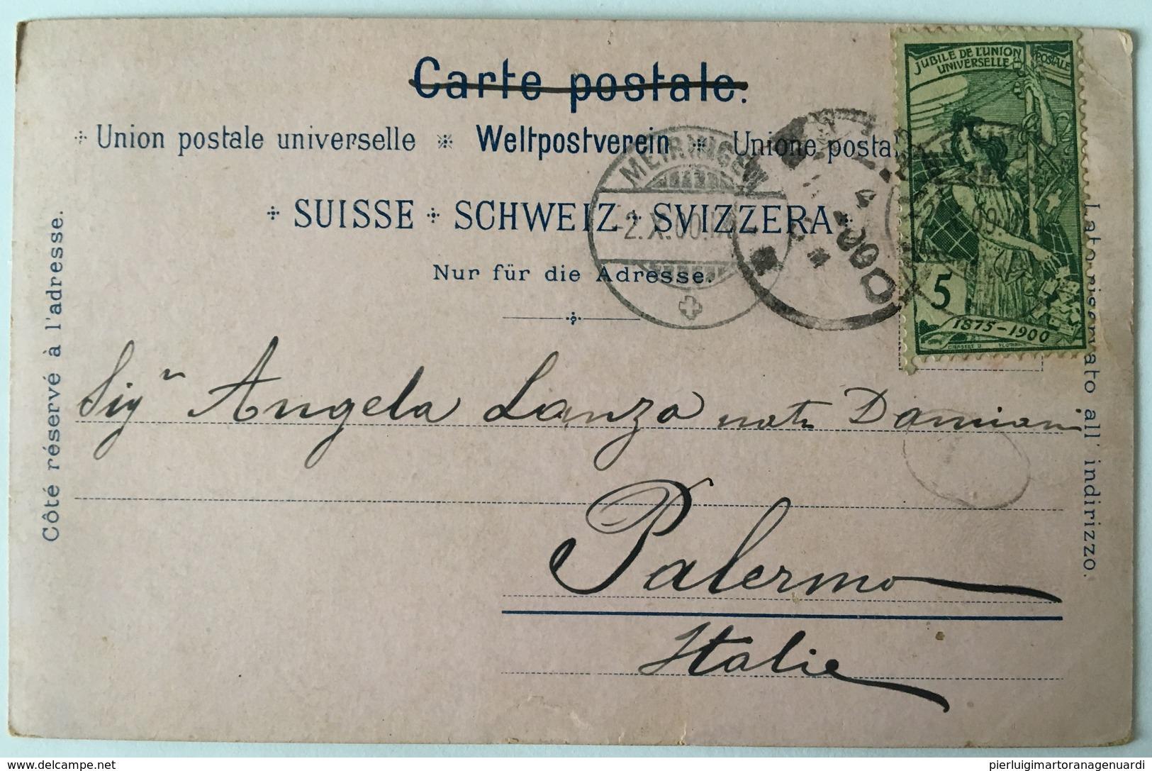 V 52061 Gruss Aus Meiringen ( 1900 ) - Svizzera