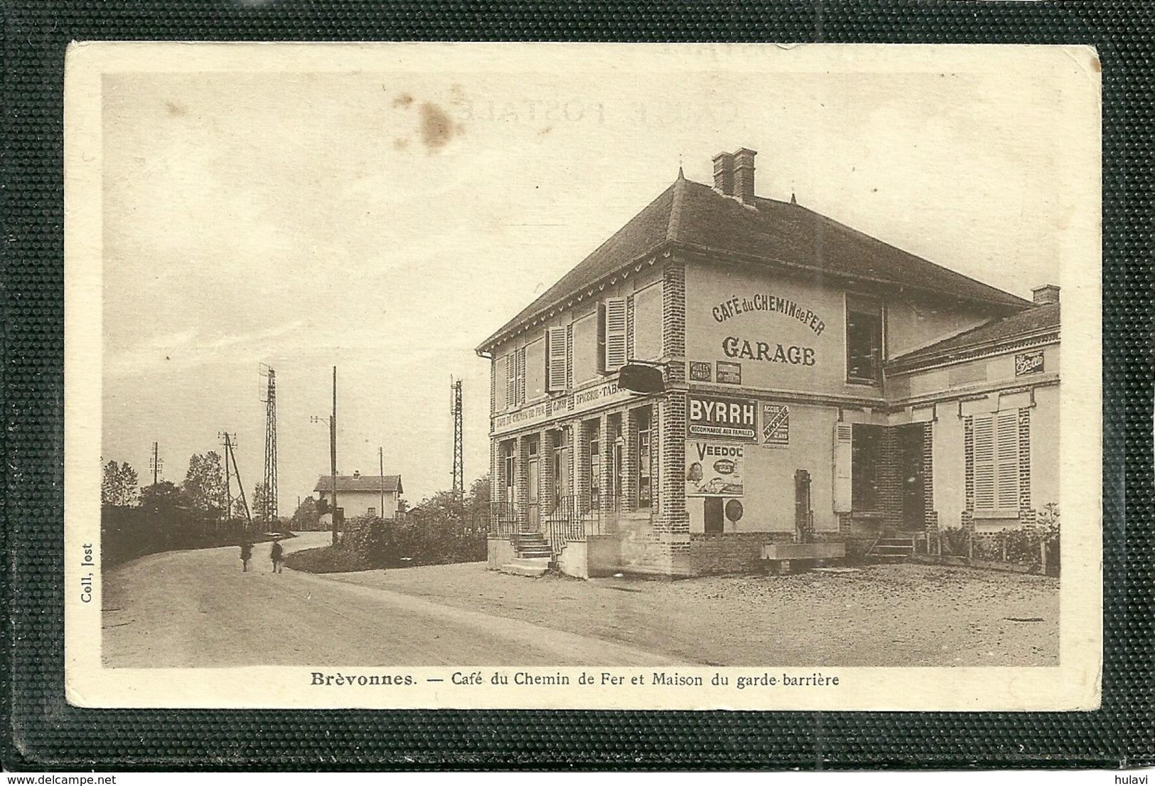 10  BREVONNES - CAFE DU CHEMIN DE FER ET MAISON DU GARDE BARRIERE (ref 7731) - Autres Communes