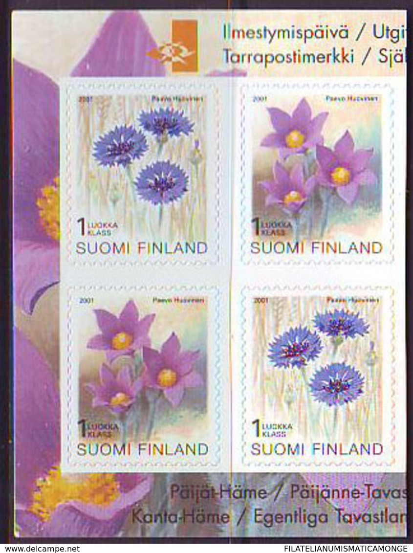 Finlandia 2001  Yvert Tellier  1534/35 Flores  ** - Finlande