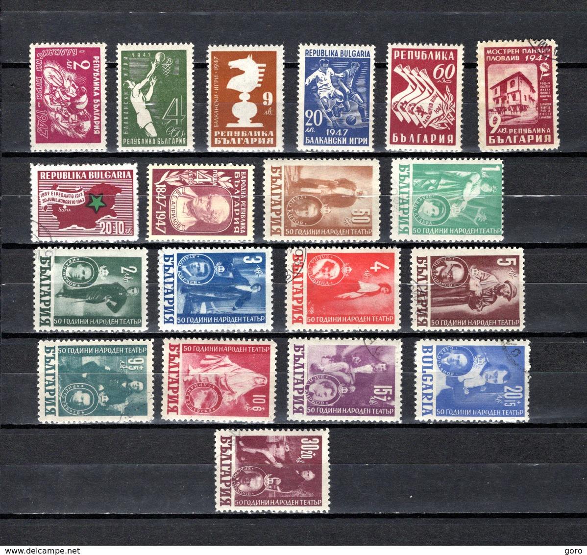 Bulgaria   1947  .-  Y&T  Nº   539/543-545-547/548-550/560 - 1945-59 Volksrepublik