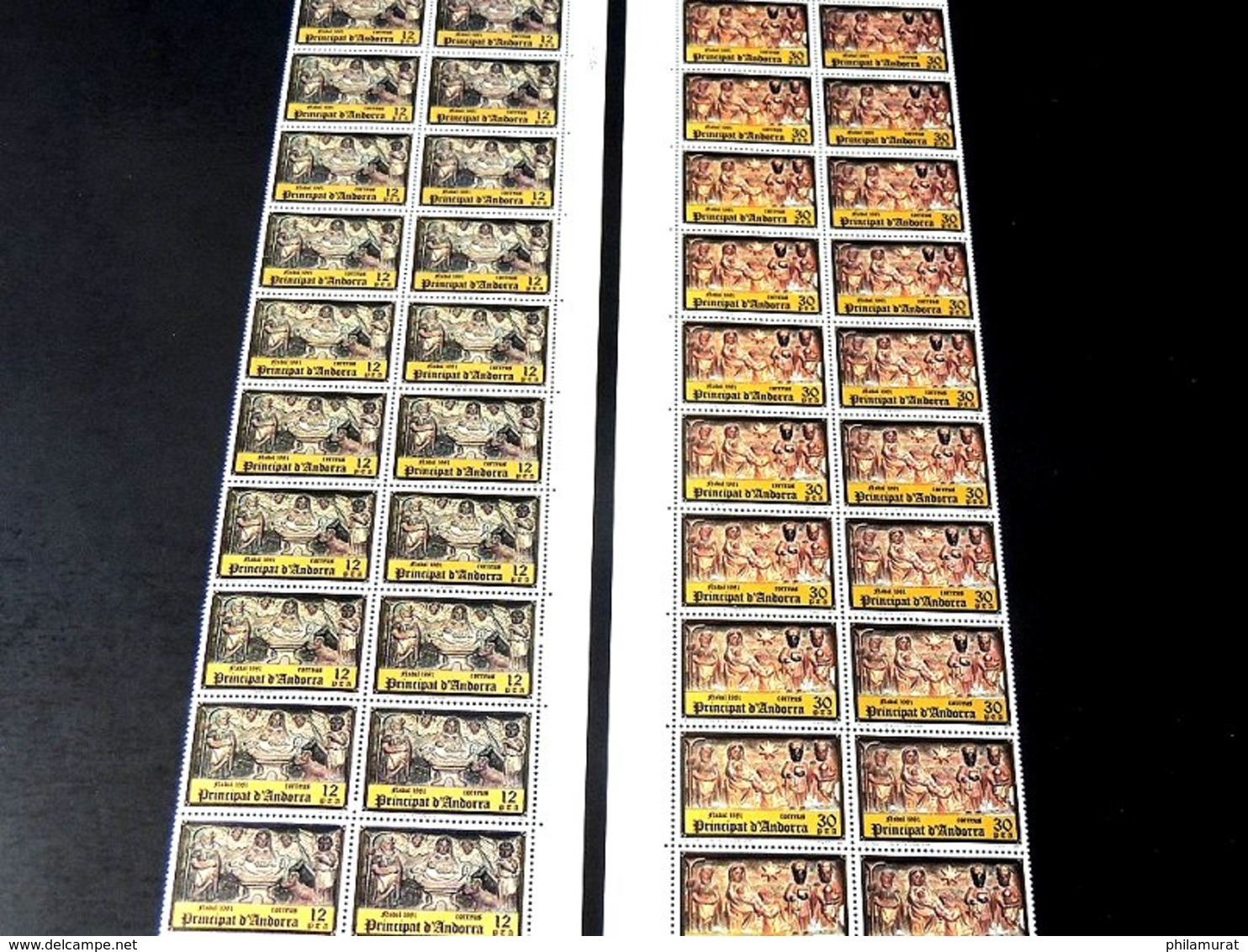 Andorre Espagnol 1978/1991 : 2600 Timbres ** En Feuilles Ou Blocs COTE 2000 € - Spanish Andorra
