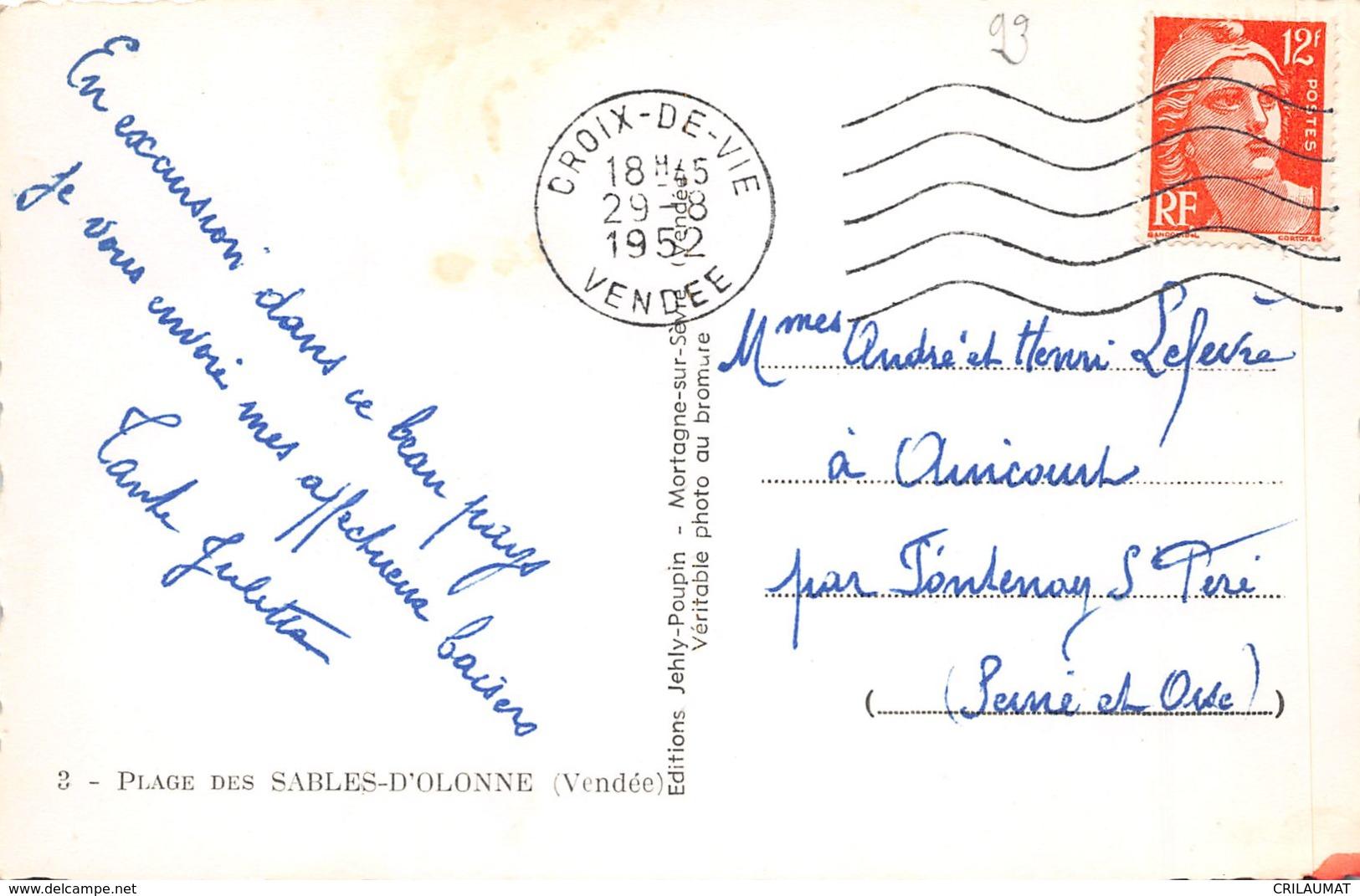 85-LES SABLES D OLONNE-N°T2521-G/0279 - Sables D'Olonne