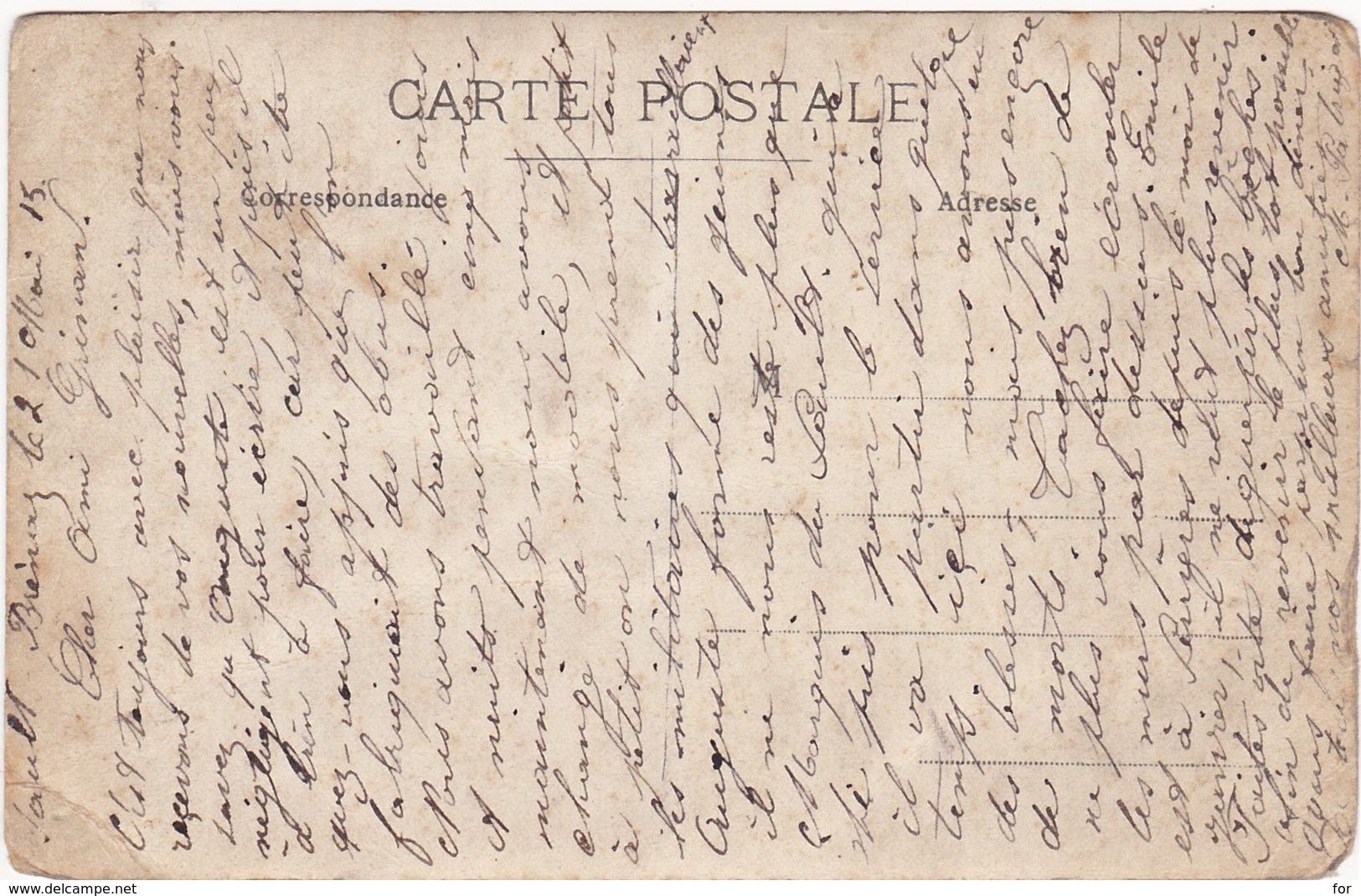 Ain : SAULT-BRENAZ : Usine Reconvertie - Fabrication D'obus ( Militaria Guerre 1914-1918 ) Voir Au Dos Correspondance - Francia