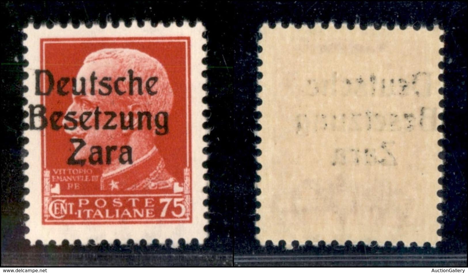 OCCUPAZIONI STRANIERE DI TERRITORI ITALIANI - OCCUPAZIONE TEDESCA - ZARA - 1943 - 75 Cent (8e - Primo Tipo) Con Soprasta - Unclassified