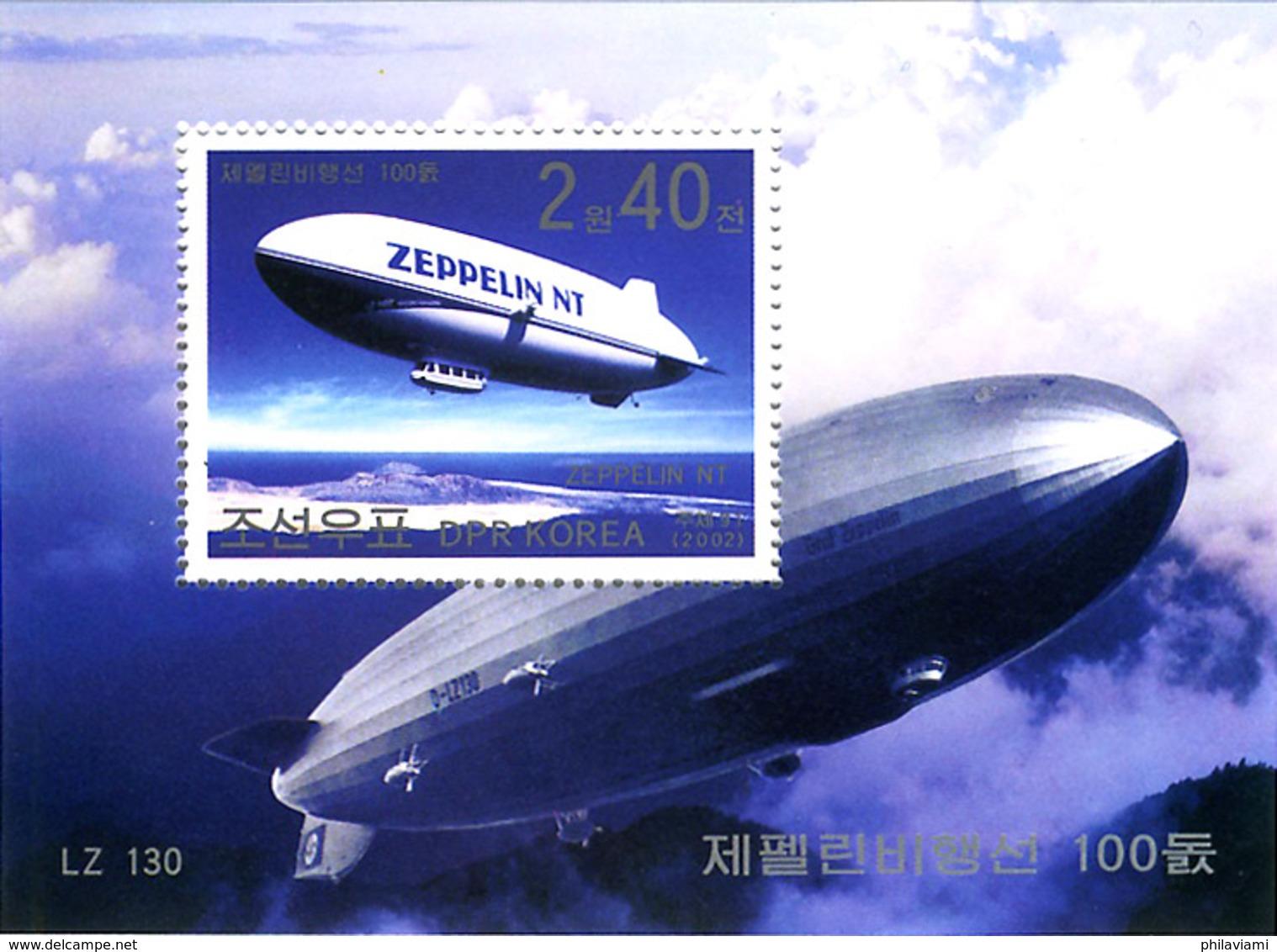 Corée Nord North Korea 2002 Zeppelin NT Et LZ-130 - Zeppelins
