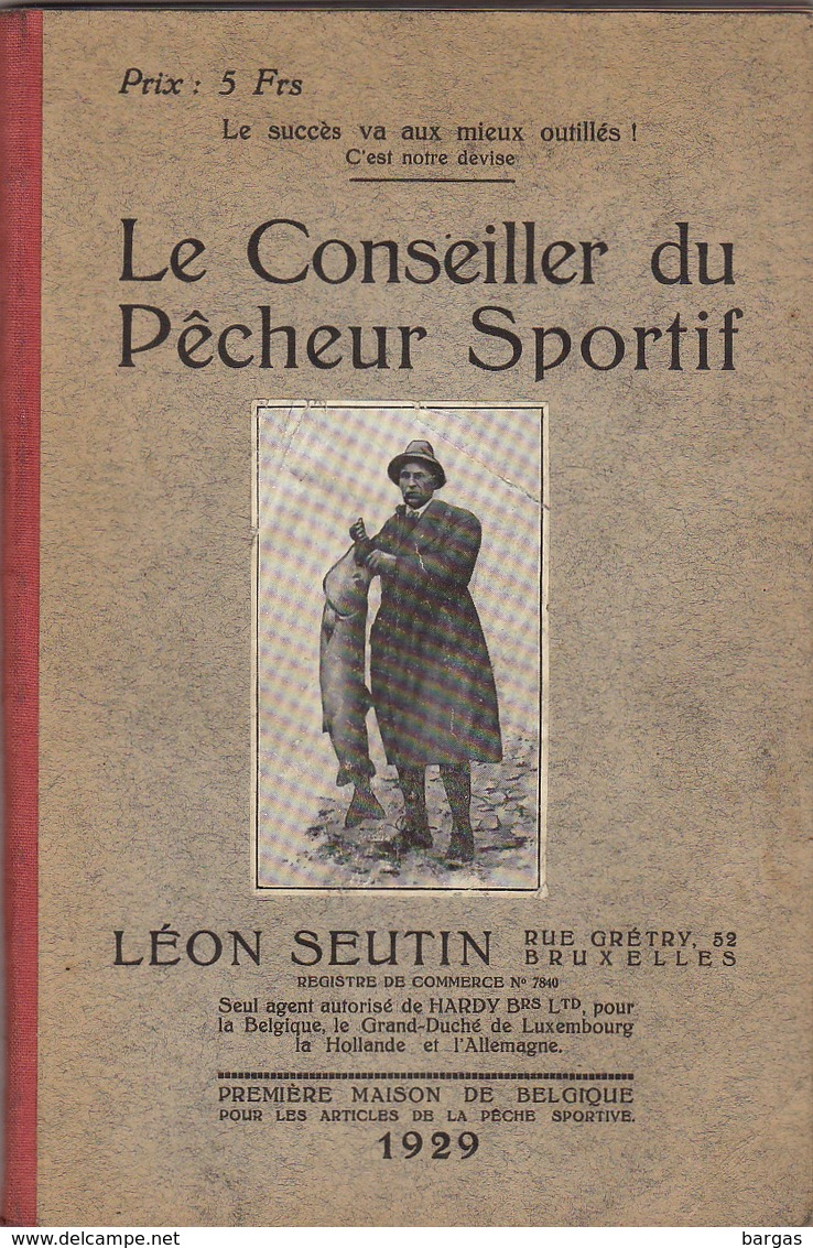 Rare Livre Catalogue De Pêche Léon Seutin Bruxelles Mouche Lancer Moulinet Canne Truite Saumon - Books, Magazines, Comics