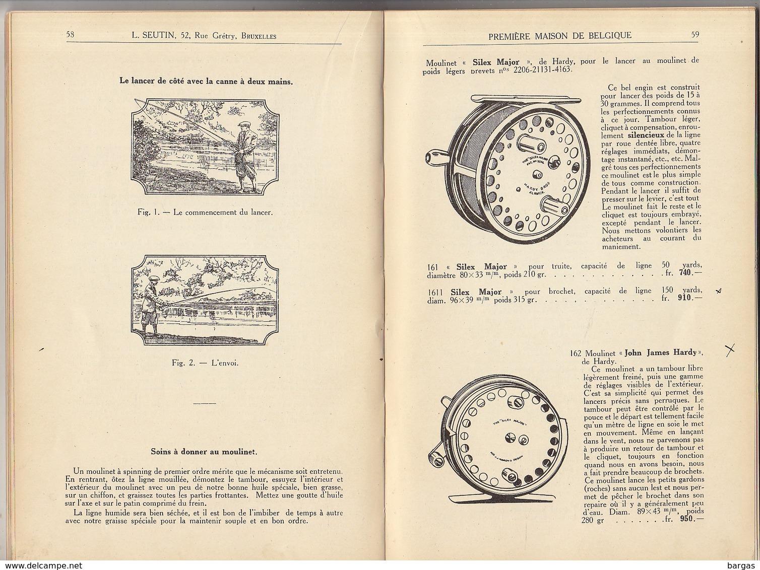 Rare Livre Catalogue De Pêche Léon Seutin Bruxelles Mouche Lancer Moulinet Canne Truite Saumon - Livres, BD, Revues