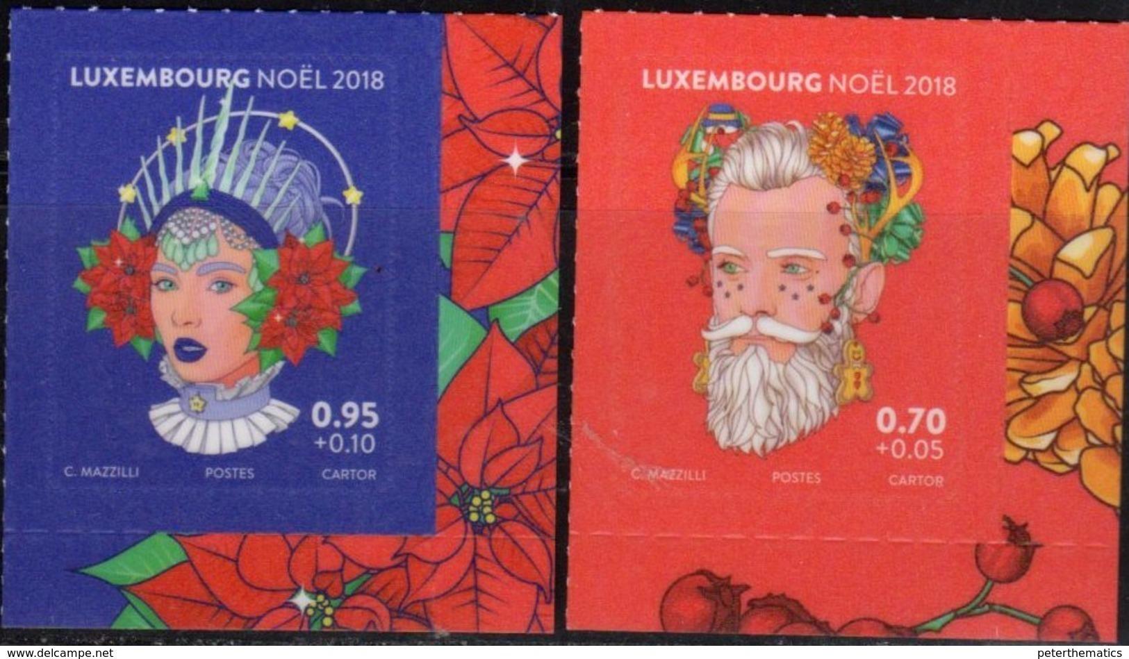 LUXEMBOURG, 2018, MNH, CHRISTMAS, 2v - Christmas
