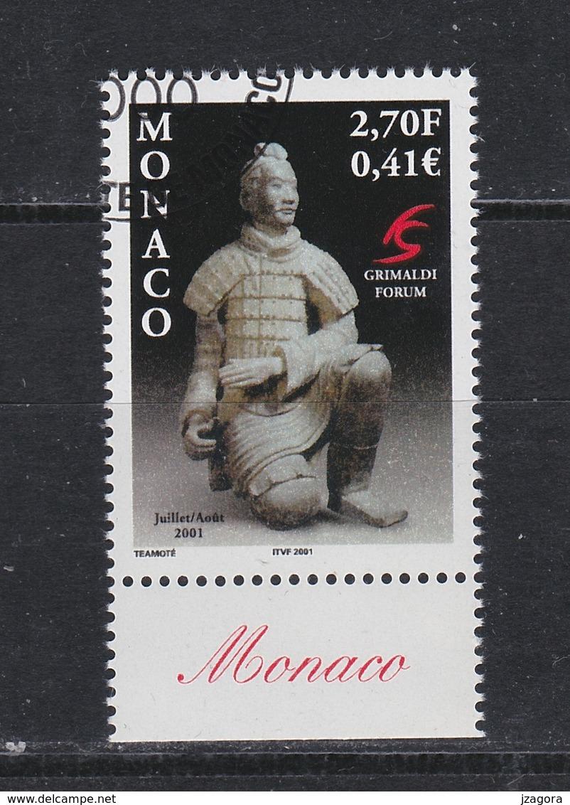 TERRACOTTA ARMY WARRIORS ARCHAEOLOGY ARCHÉOLOGIE ARCHÄOLOGIE  MONACO 2000 MI 2531 WITH GUM - 1949 - ... République Populaire