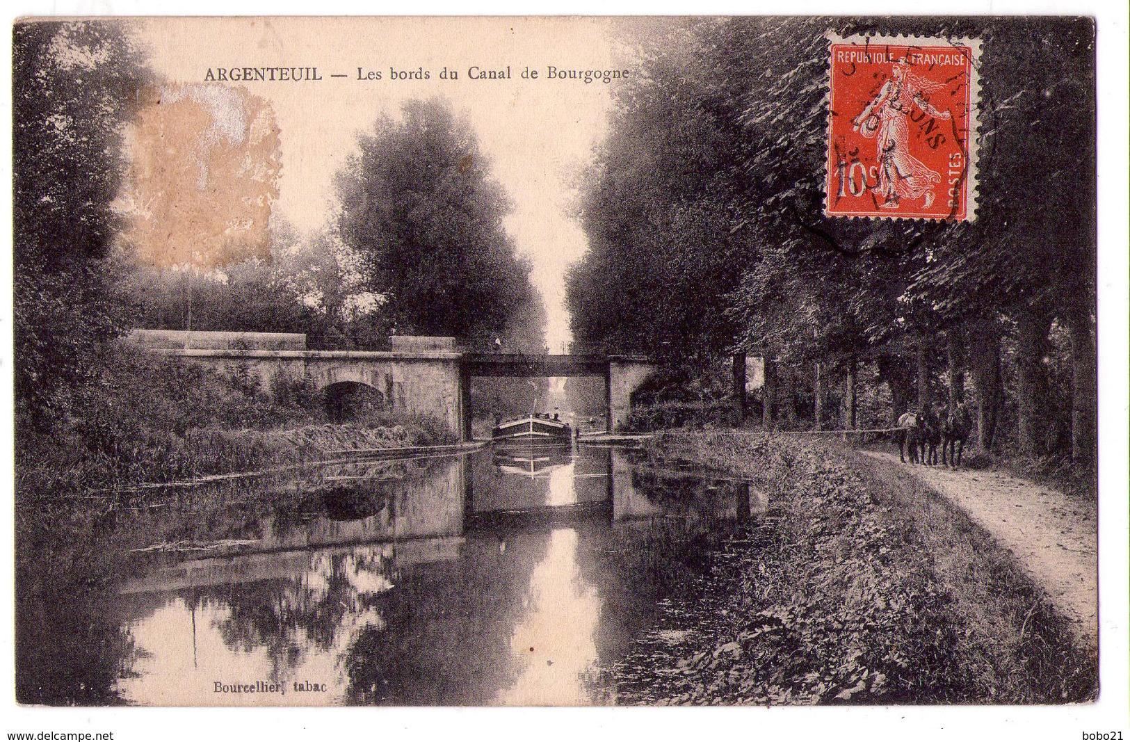 6417 - Argenteuil ( 95 ) - Les Bords Du Canal De Bourgogne - Bourcellier Tabac - - Argenteuil
