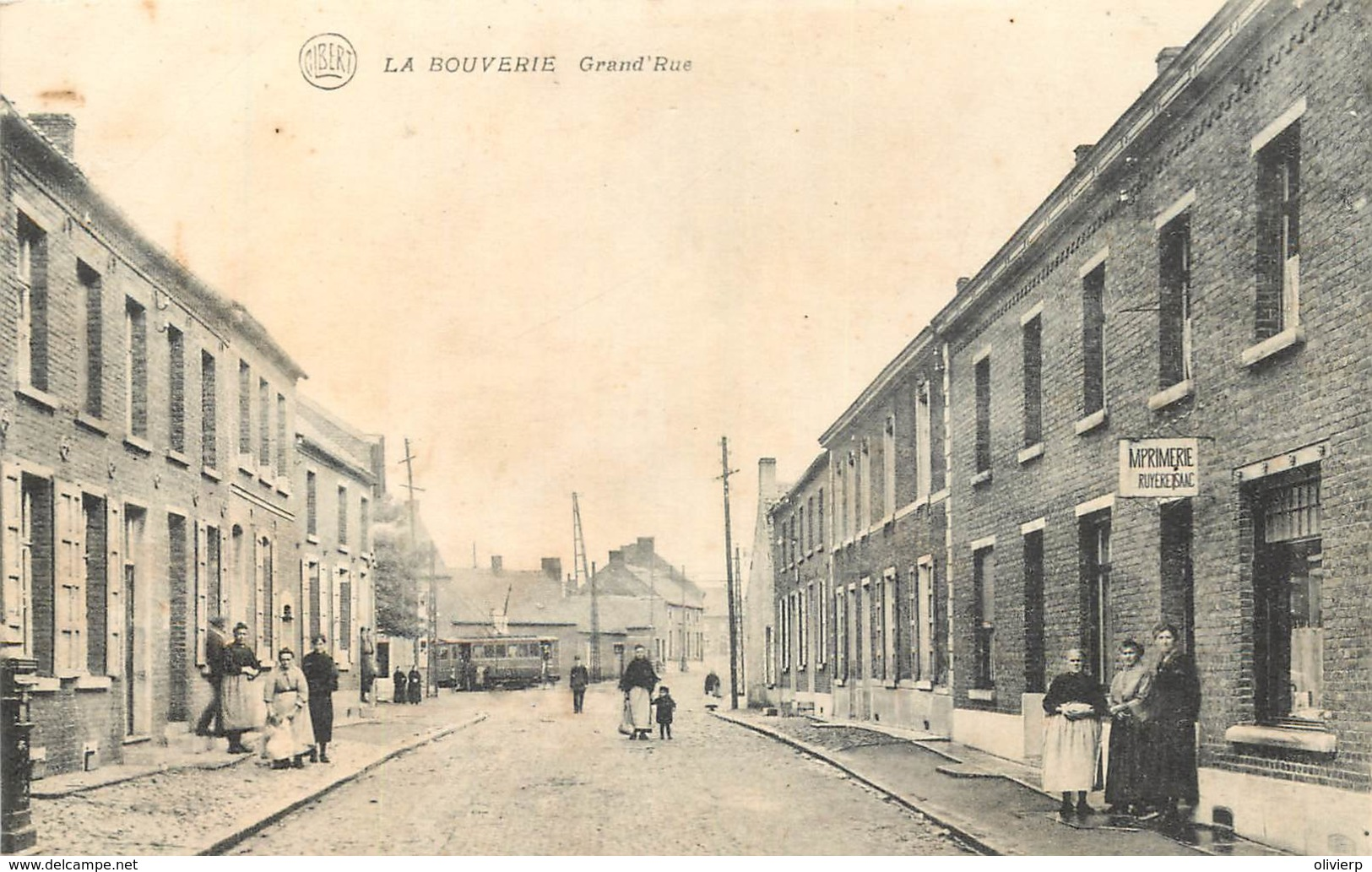 Belgique - Frameries - La Bouverie - Grand' Rue - Frameries