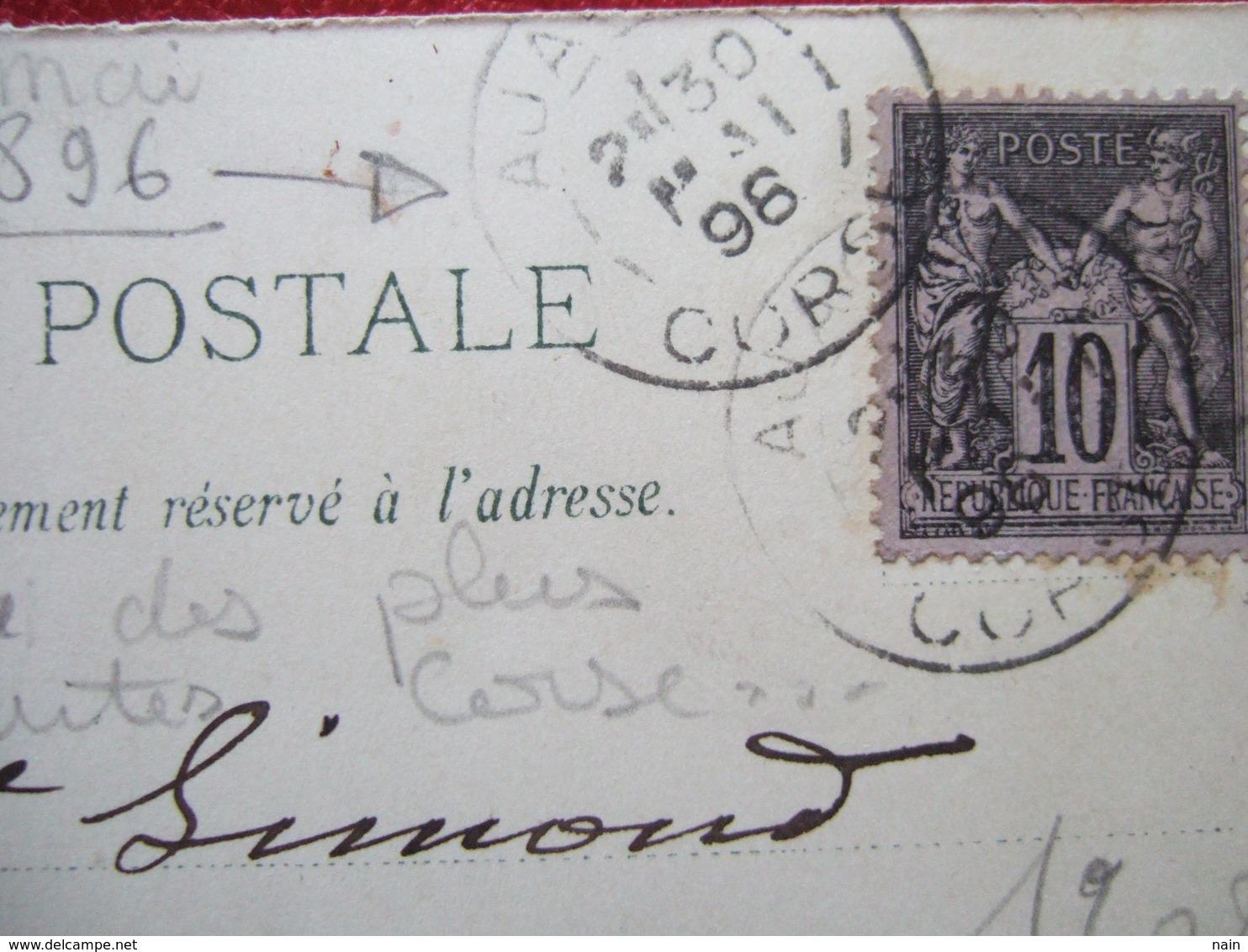 20 - AJACCIO - CARTE PIONNIERE - GRUSS - VOYAGEE EN 1896 - BIEN REGARDER LES SCANS.... - Ajaccio