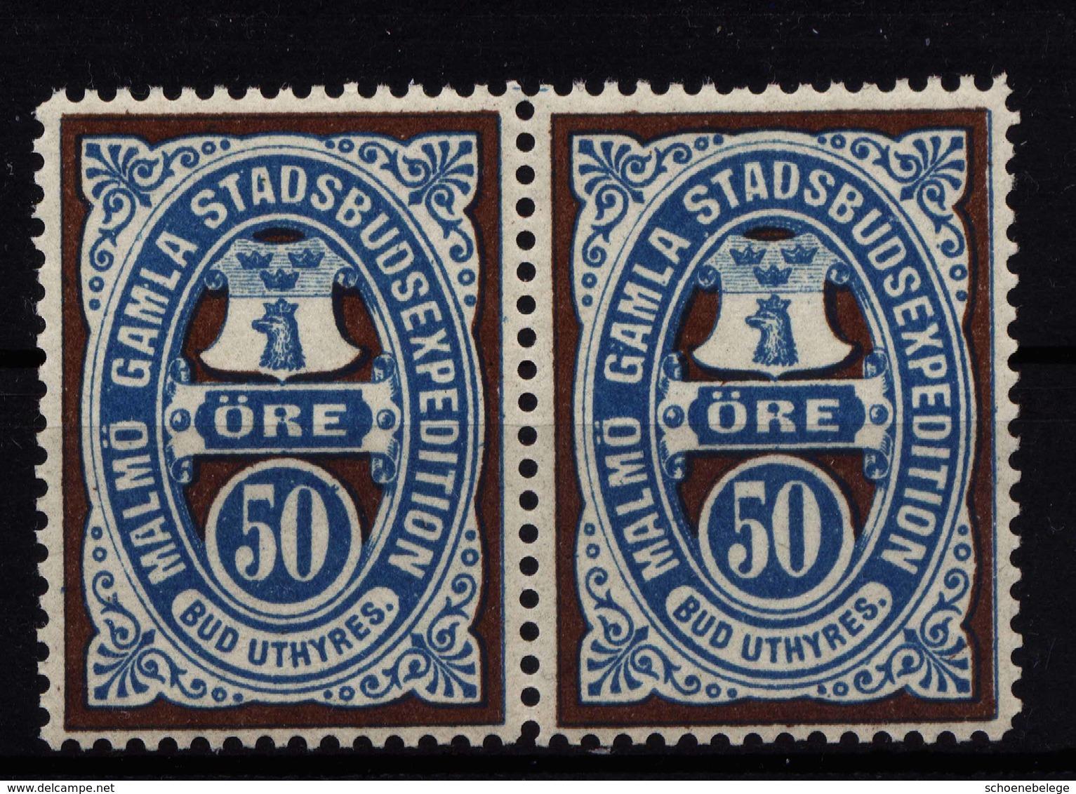 A6472) Schweden Sweden Sverige Stadtpost Malmö Ungebraucht Paar MNH - Unused Stamps