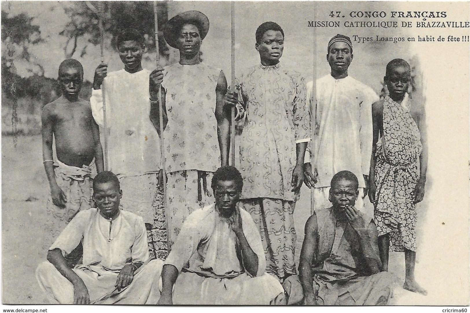 CONGO FRANCAIS - Types Loangos En Habit De Fête !!!. Beau Plan, BE. - Brazzaville