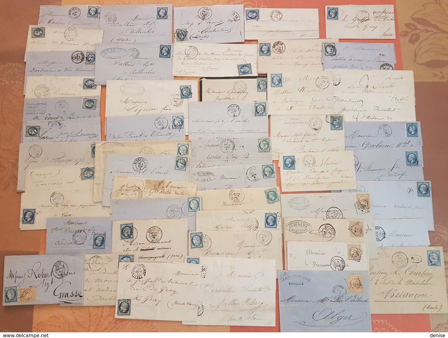 France - Lot De 50 Lettres Classiques - Majorité Avec Des  Bleus De France  - DEPART 1 EURO - Marcophilie (Lettres)