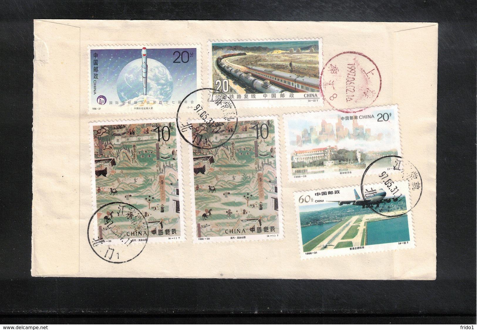 China  1997 Interesting Registered Letter - 1949 - ... République Populaire