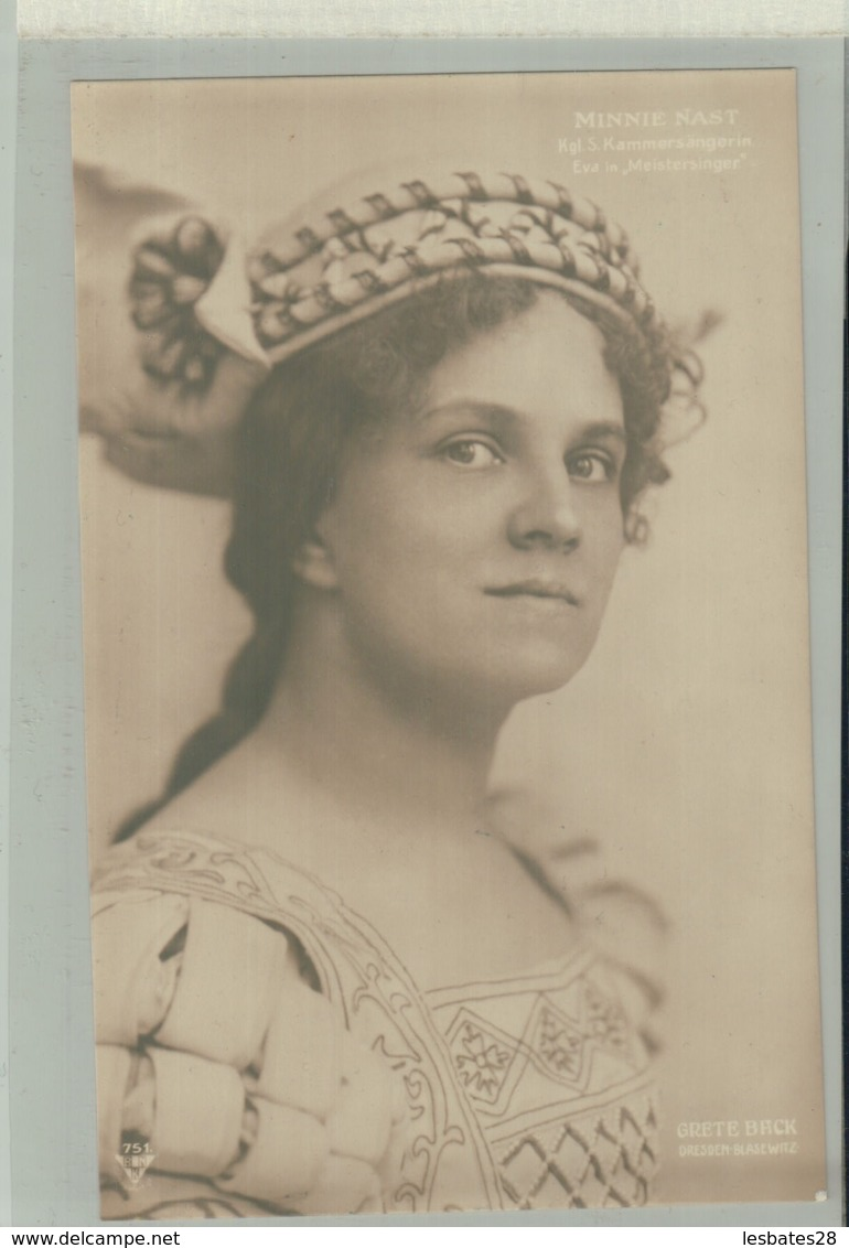 "ARTISTE PORTRAIT Photo  MINNIE NAST  (EVA  In Meistersinger"" ) Phot. CRETE BACK DRESDEN    -JAN 2020 Gera 75 - Oper"