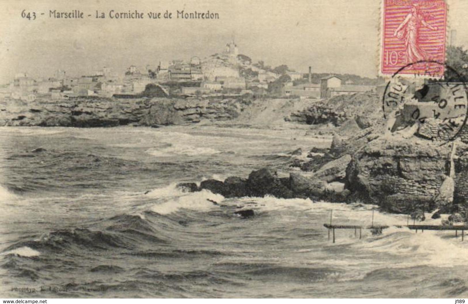 13 - Bouches-du-Rhône - Marseille - La Corniche Vue De Montredon - D 2083 - Other