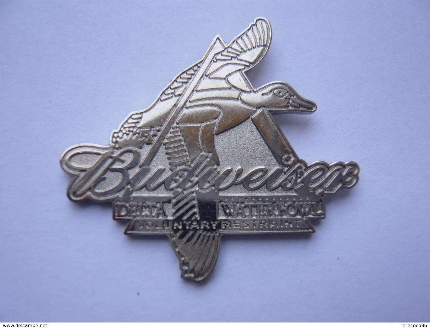 Rare Pin S BIERE BUDWEISER DELTA WATERFOWL 4 X 3,5 Cm Tbq - Bière