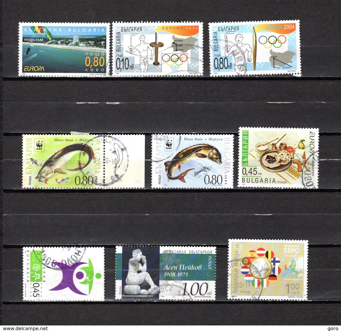 Bulgaria   2004-2009.-  Y&T  Nº   4017-4024-4027-4043/44-4057-4059-4182-4224 - Bulgarien