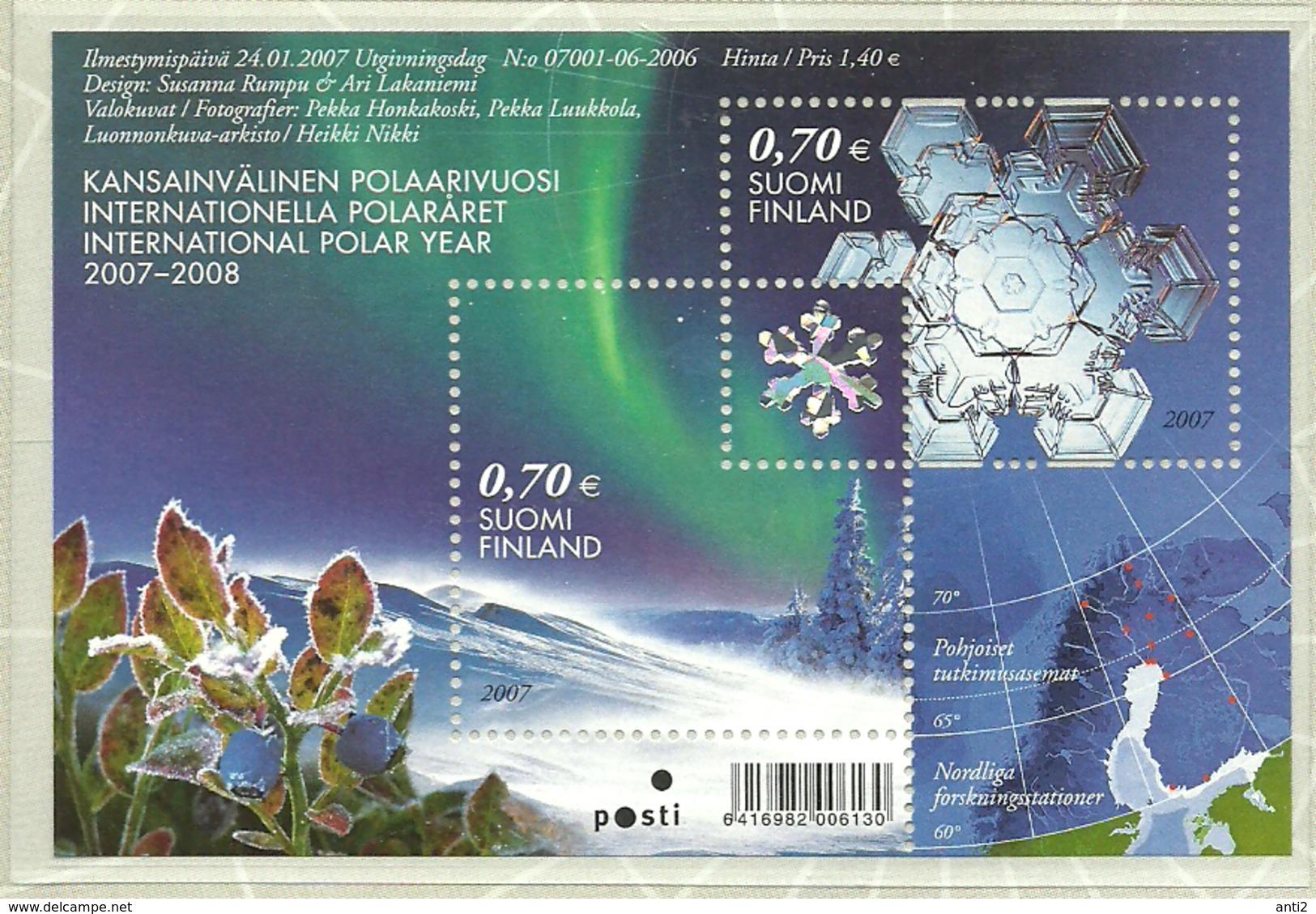 Finland 2007 International Polar Year, Mi Bloc 42, MNH(**) - Finland