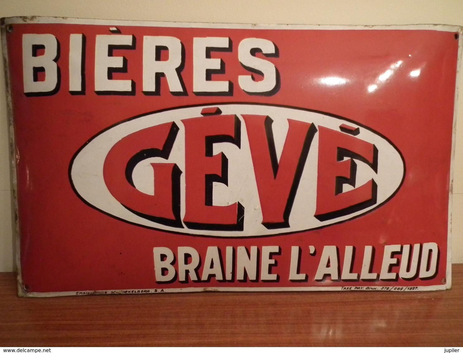 Plaque Publicitaire Brasserie GEVE - Liqueur & Bière