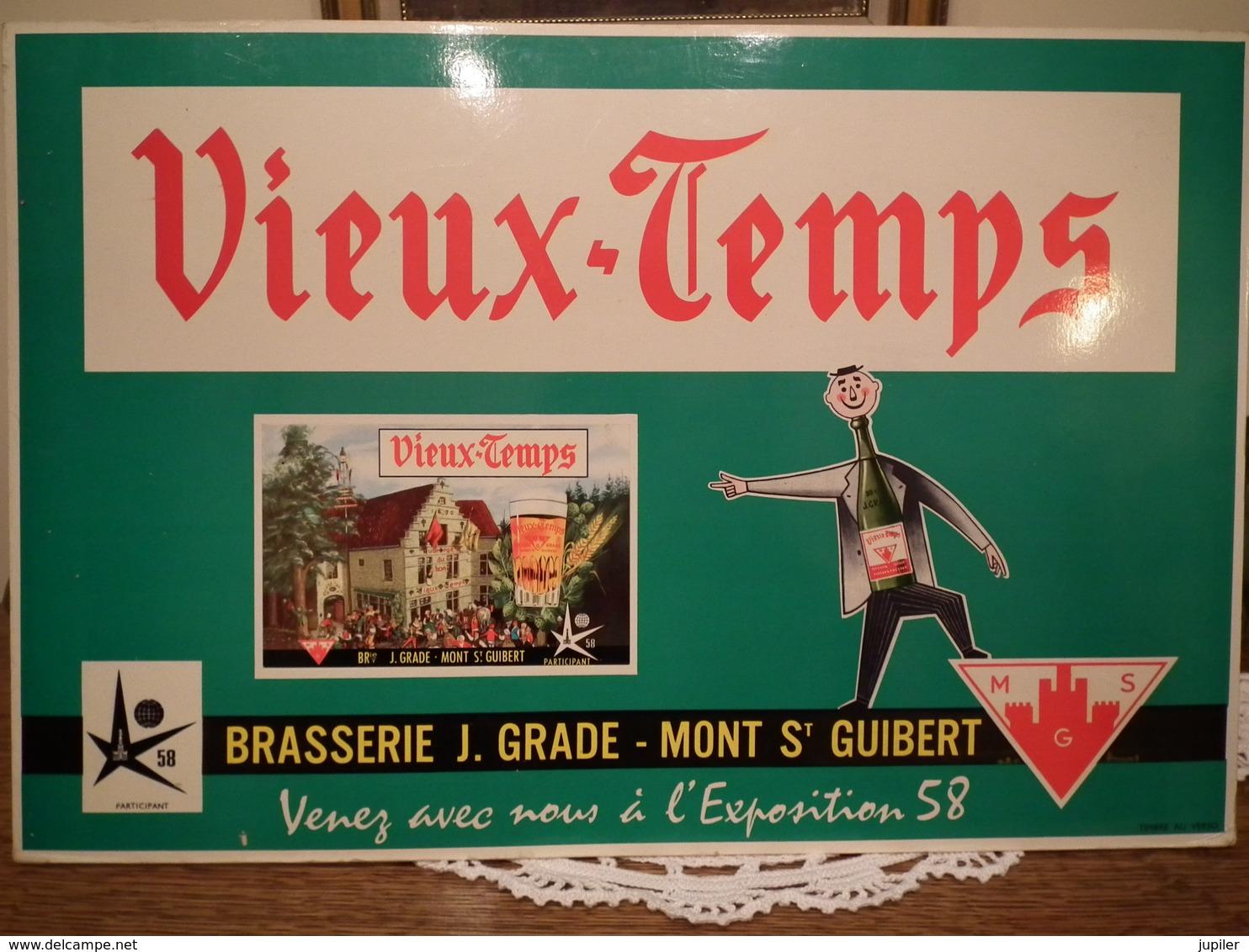 Plaque Publicitaire Brasserie GRADE MONT ST GUIBERT - Plaques En Carton