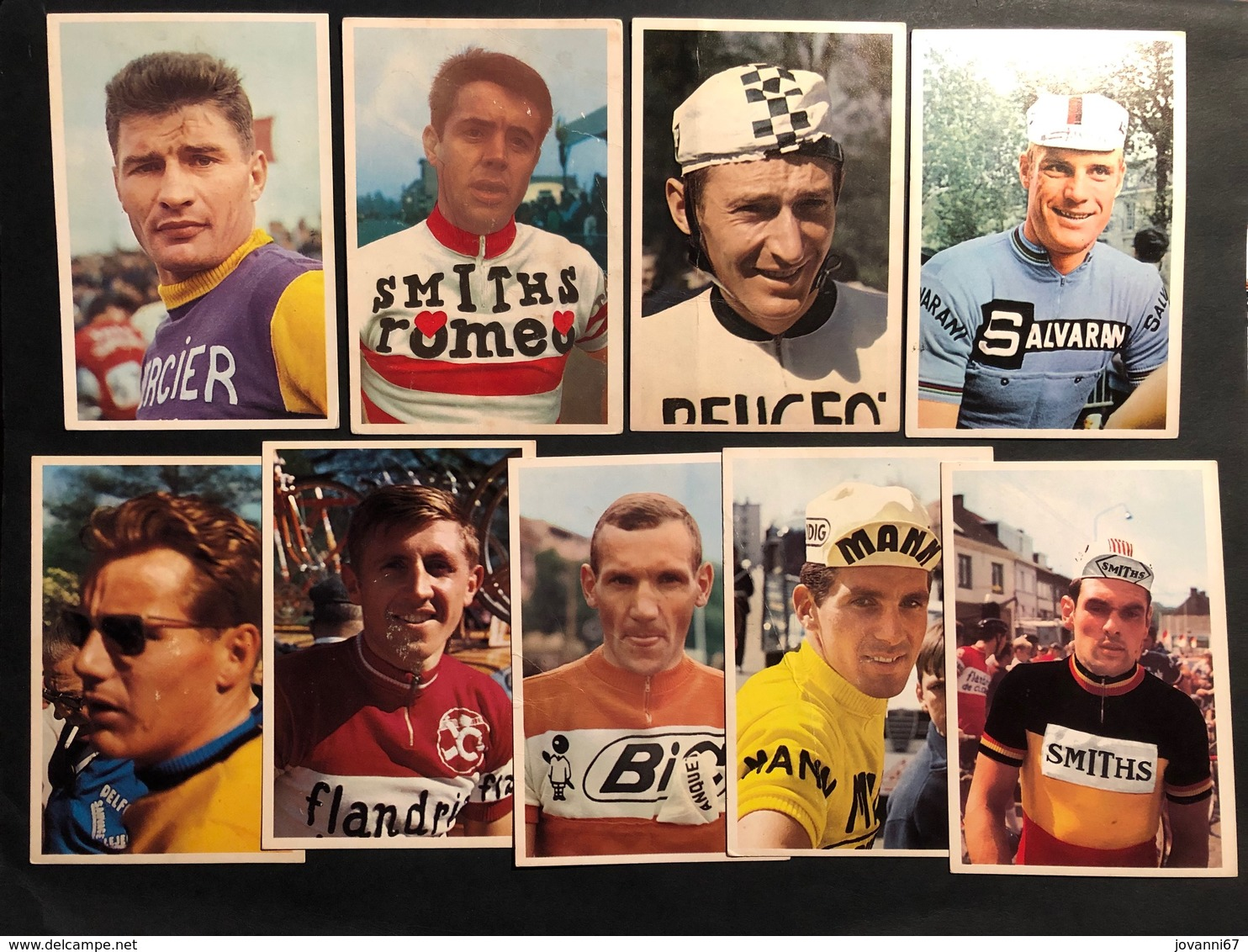 9 Cartes / Cards -  Cyclists - Cyclisme - Ciclismo -wielrennen - Cycling