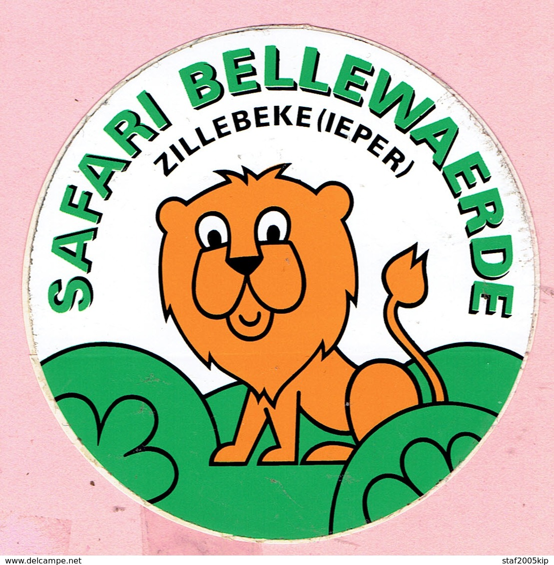 Sticker - SAFARI BELLEWAERDE - ZILLEBEKE ( IEPER ) - Stickers