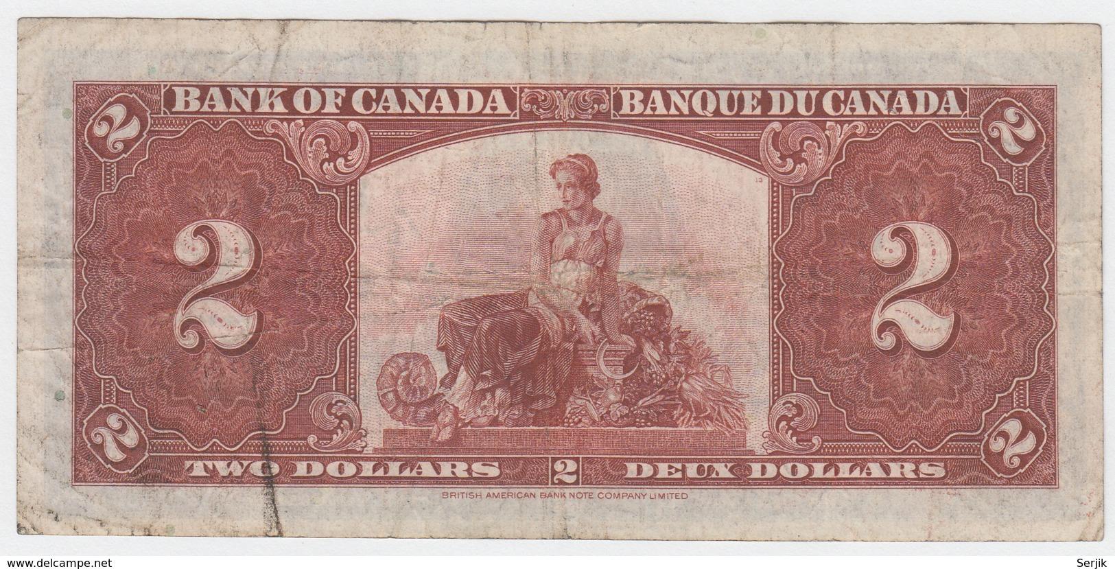 Canada 2 Dollars 1937 AVF Pick 59c 59 C - Canada