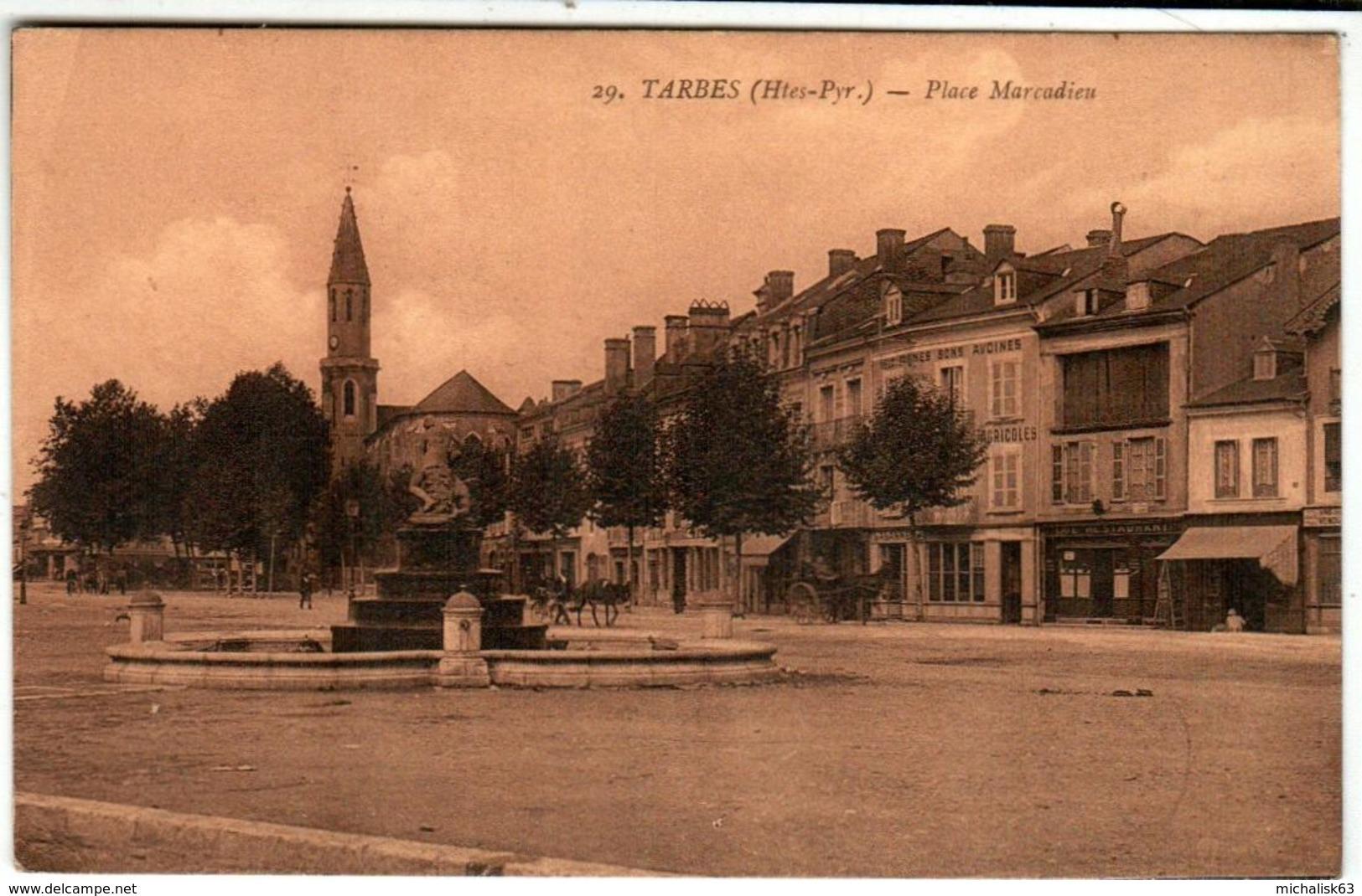51bs 416 CPA - TARBES - PLACE MARCADIEU - Tarbes