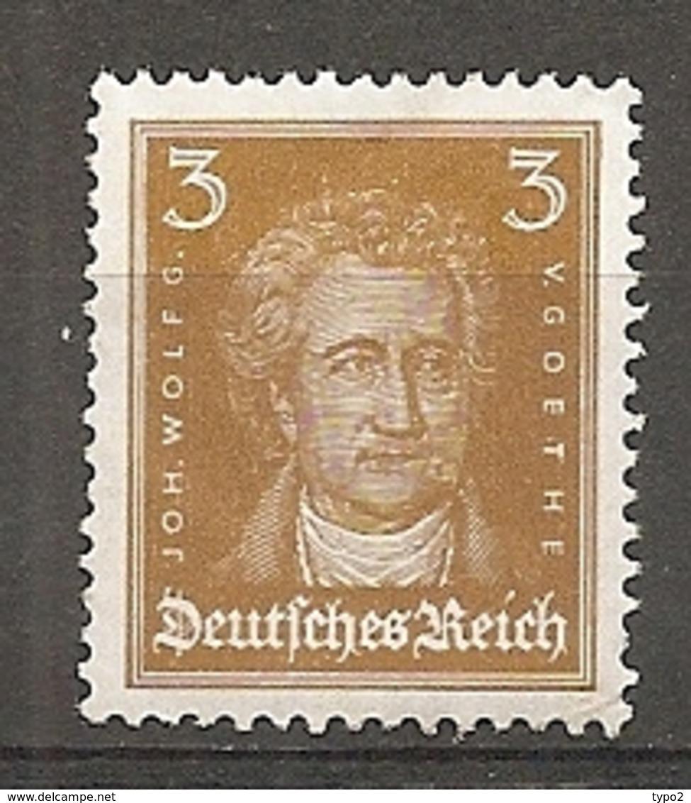DR - Yv. N°  379a Mi:  386  *  3p  Goethe Bistre-jaune  Cote  1,4 Euro BE  2 Scans - Deutschland