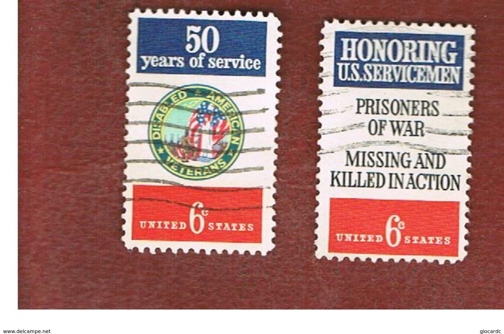 STATI UNITI (U.S.A.) - SG 1417.1418   - 1970  AMERICAN VETERANS (COMPLET SET OF 2)  - USED - Stati Uniti