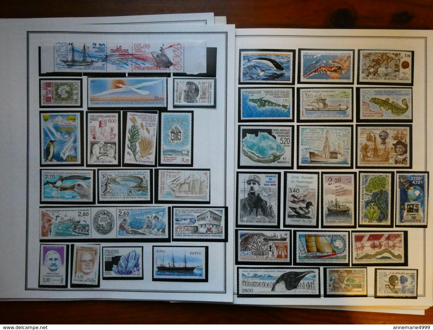 TERRES AUSTRALES ET ANTARCTIQUE FRANCAISE Collection Très Avancée Neuf Sans Charnière Faciale Moins 60 % - French Southern And Antarctic Territories (TAAF)