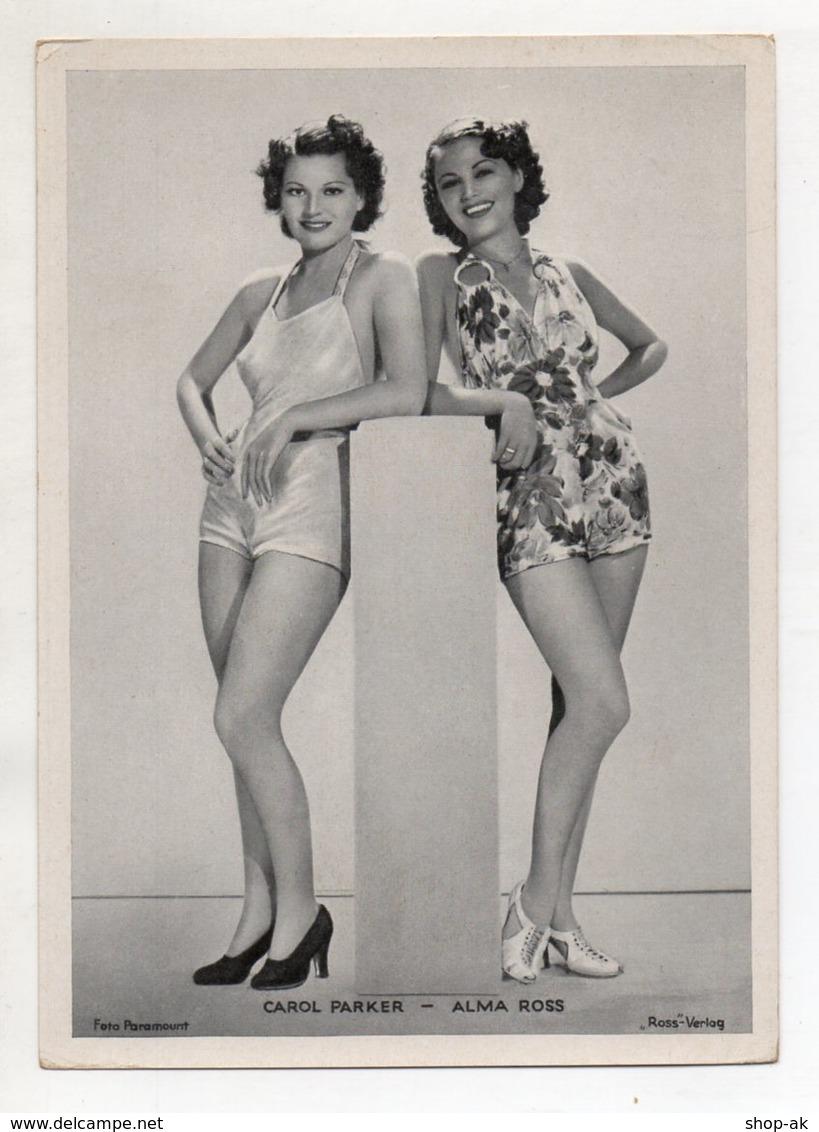 C3325/ Schauspielerin Carol Parker + Alma Ross   Ross Bild 18 X 13 Cm Ca.1935 - Künstler