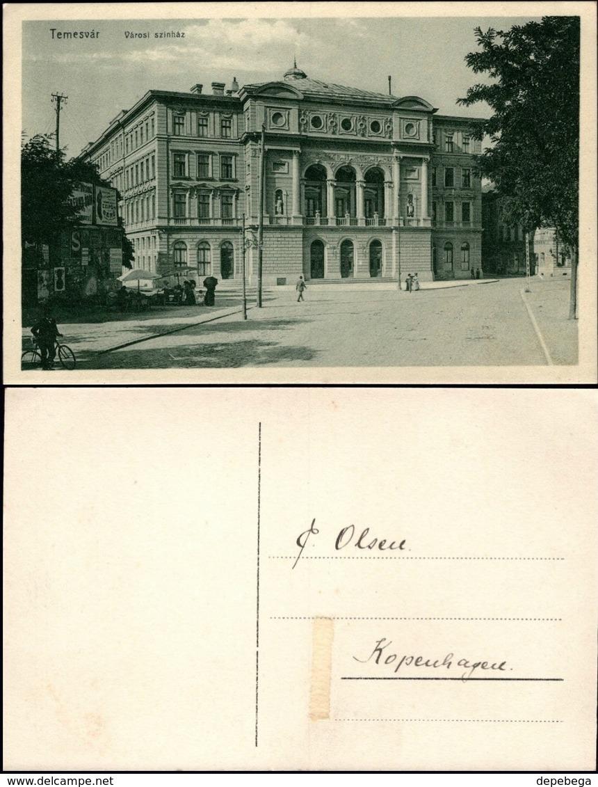 Romania - Timisoara, Teatrul National - Opera. Temesvár, Városi Színház, 1910. - Rumania