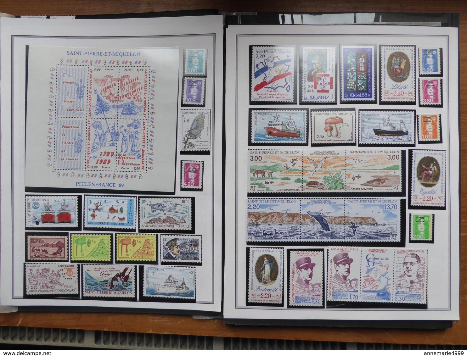 SAINT PIERRE ET MIQUELON Collection  Neufs Sans Charnière Faciale 188 € Moins 50 % - Collections, Lots & Séries