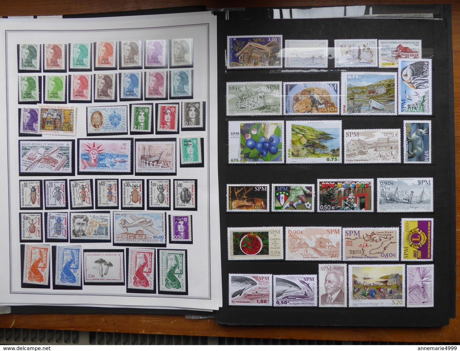 SAINT PIERRE ET MIQUELON Collection  Neufs Sans Charnière Faciale 188 € Moins 50 % - St.Pierre & Miquelon