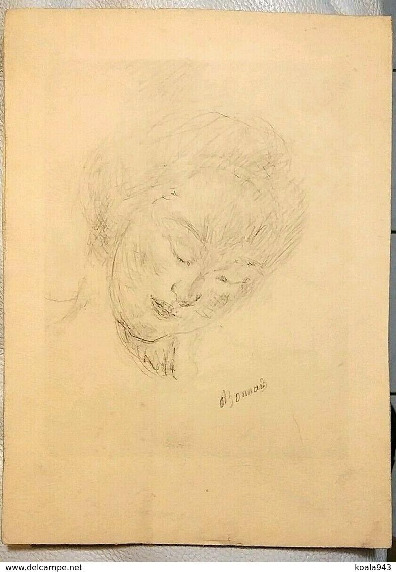 BONNARD Gravure ORIGINALE (Dessin...!/Velin) Ebauche épreuve Portrait De Femme Signé ! - Prints & Engravings