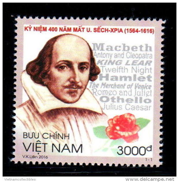 Vietnam Vietnam MNH Perf Stamps 2016 :400th Death Anniversary Of William Shakespeare (Ms1067) - Vietnam