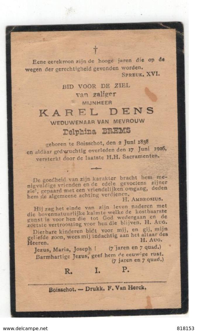 DP KAREL DENS Geboren Booischot 1838,wedn.v Delphina BREMS,gestorven Booischot 1926 - Religione & Esoterismo