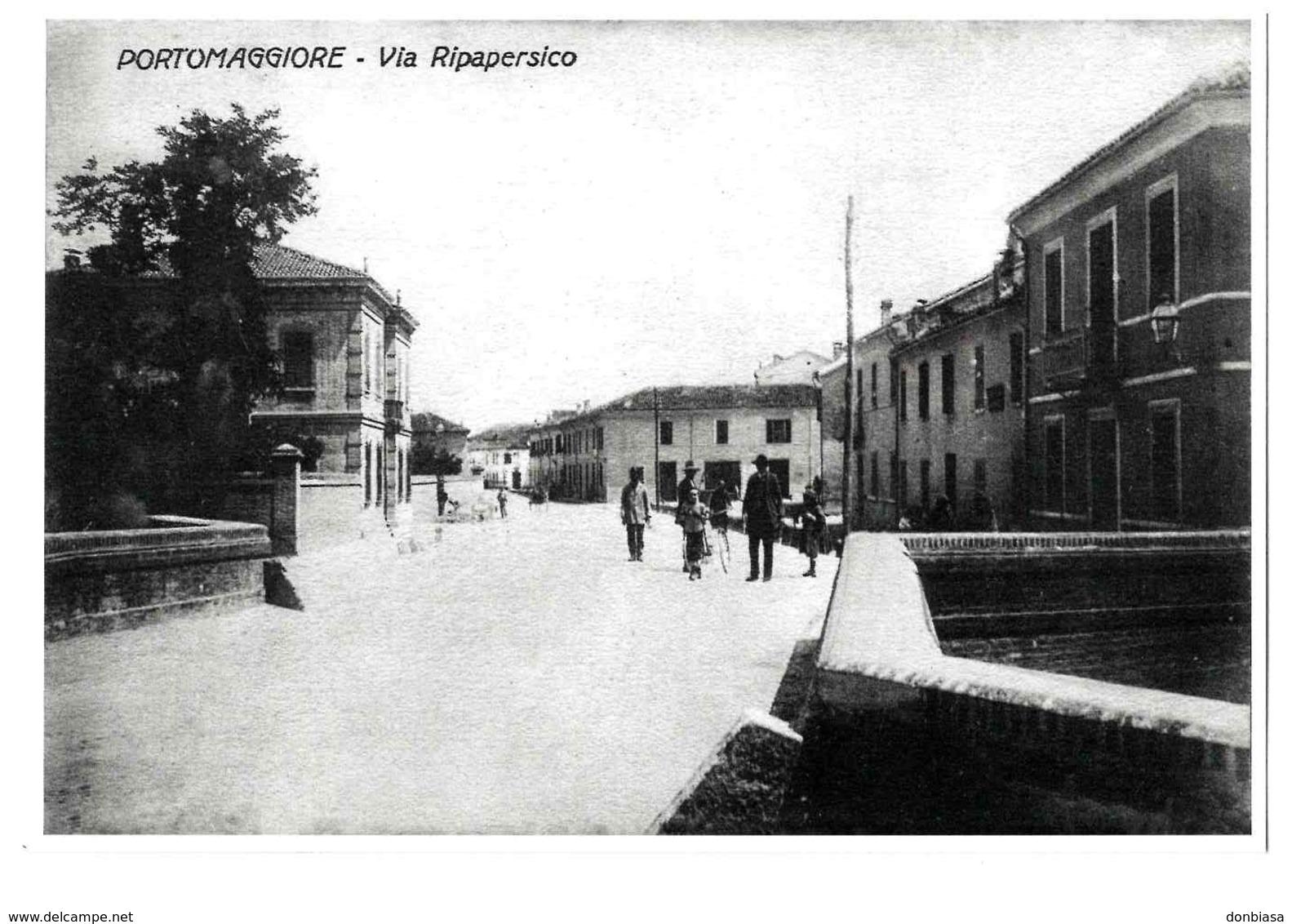 Portomaggiore (Ferrara): Via Ripapersico. Cart. Pubblicitaria (RIPRODUZIONE) - Ferrara