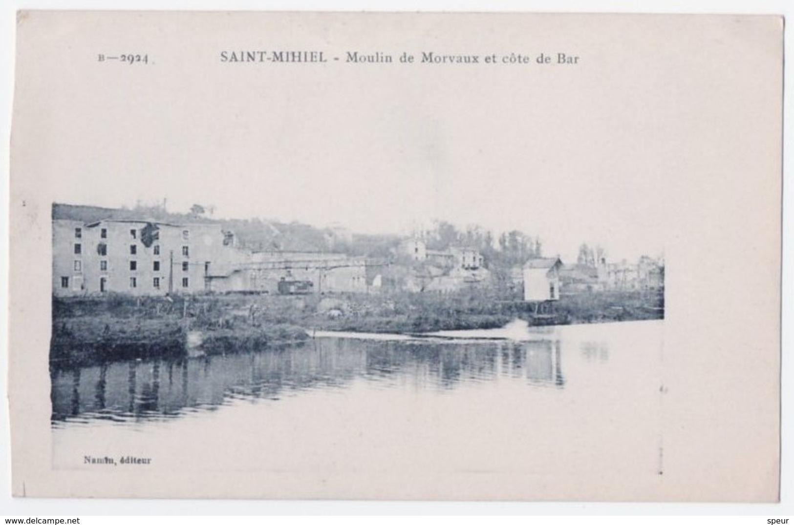 Saint Mihiel - Moulin De Morvaux Et Côte De Bar. Interesting 1918 Message In English From Soldier - Saint Mihiel