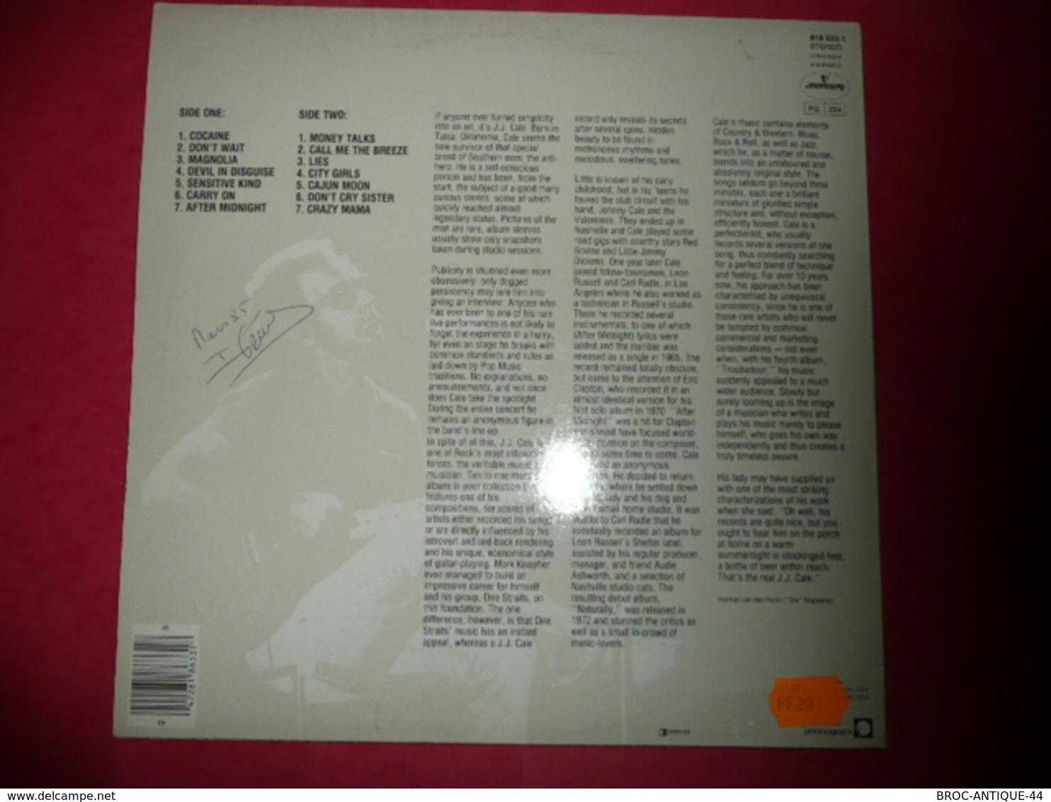 LP33 N°1083 - J.J. CALE - SPECIAL EDITION - COMPILATION 14 TITRES ROCK BLUES -OCCASION IL PASSE MAIS A UN BUG OU UN PAIN - Disco, Pop