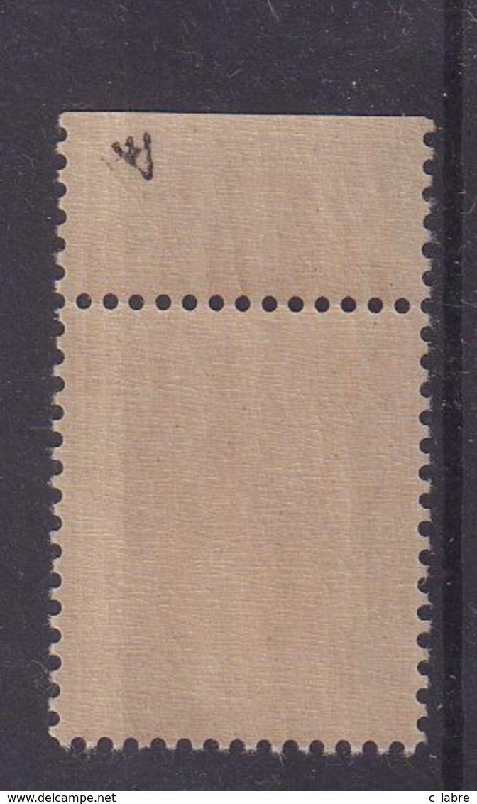 """ALGERIE : N° 137Aa **. AVEC BANDE DE PUB . """" BYRRH STIMULANT """" . LUXE . SIGNE . 1938/41 . - Unused Stamps"""