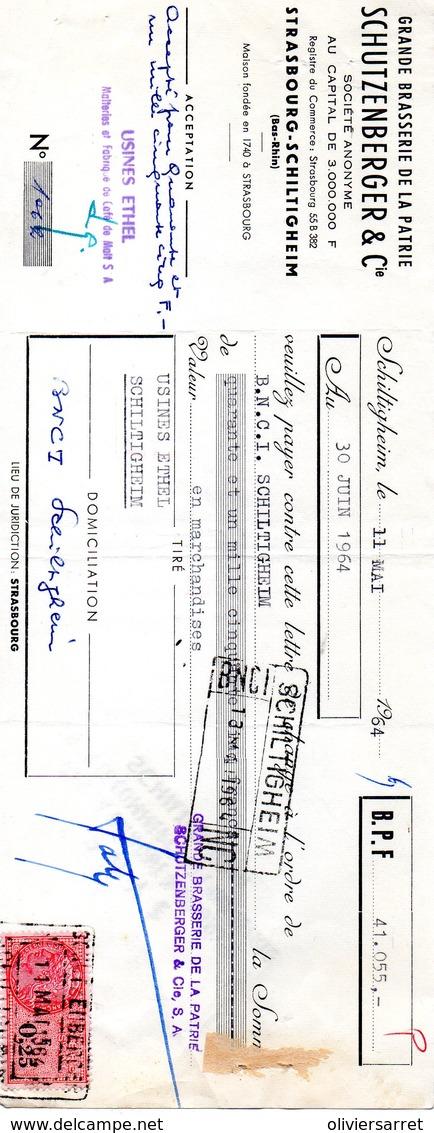 Fiscaux  1964 Schiltigheim Brasserie De La Patrie Schutzenberger - Fiscaux