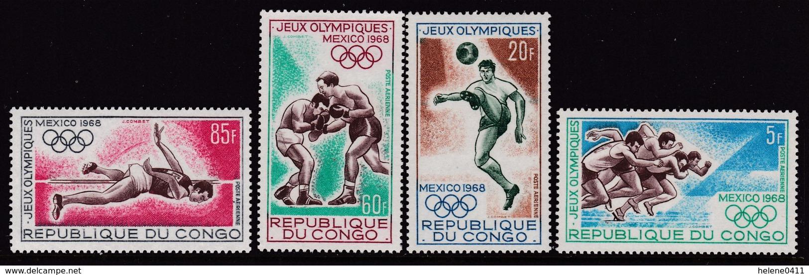 SERIE NEUVE DU CONGO - JEUX OLYMPIQUES DE MEXICO N° Y&T PA 74 A 77 - Zomer 1968: Mexico-City