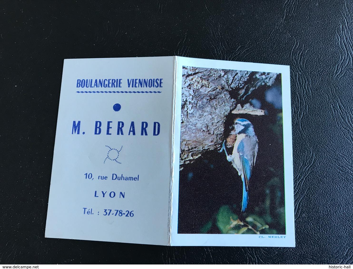 Mini Calendrier Mesange - 1966 - Boulangerie Viennoise M. BERARD LYON - Petit Format : 1961-70