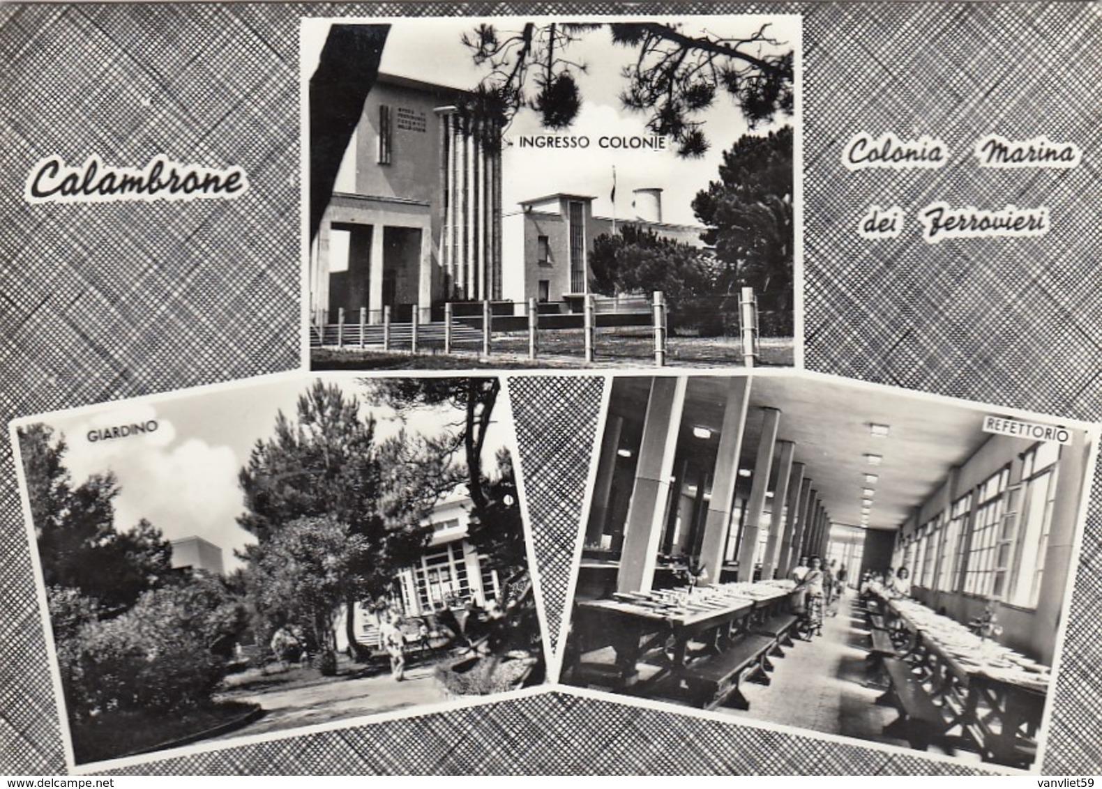 CALAMBRONE-PISA-COLONIA MARINA DEI FERROVIERI-CARTOLINA VERA FOTOGRAFIA-VIAGGIATA IL 2-7-1960 - Pisa